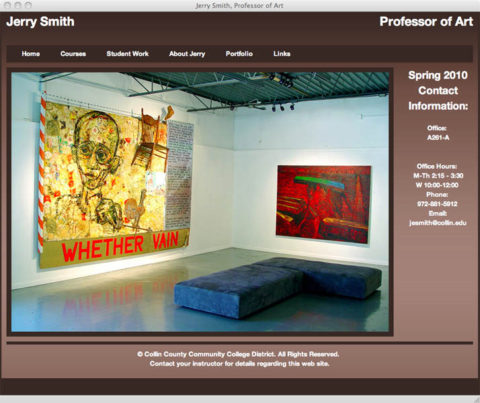 Jerry Smith, Website Redesign